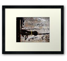 Almost Locked Out! Framed Print