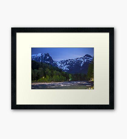 Moonlit Mount Index Framed Print