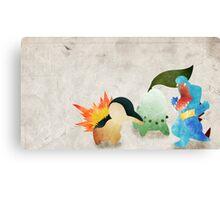 Johto Starters - Pokemon Canvas Print