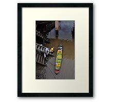 Floating Market Fruit Seller, Thailand Framed Print