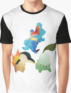 Johto Starters - Pokemon Graphic T-Shirt
