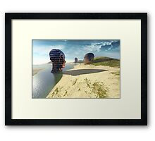 mesh island Framed Print