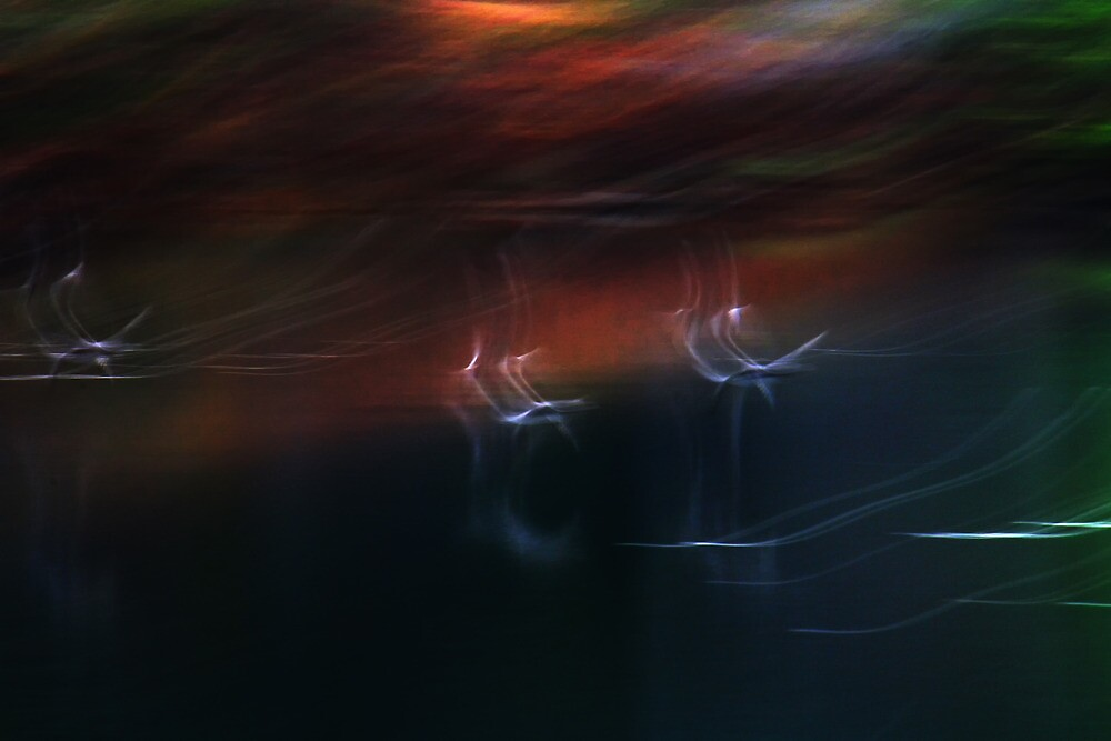 Abstract Ducks Over Black Waters by Nazareth