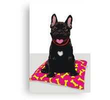 I heart frenchies Canvas Print