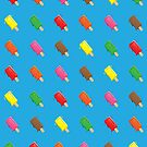 Cute Popsicle Cartoon Pattern by thejoyker1986