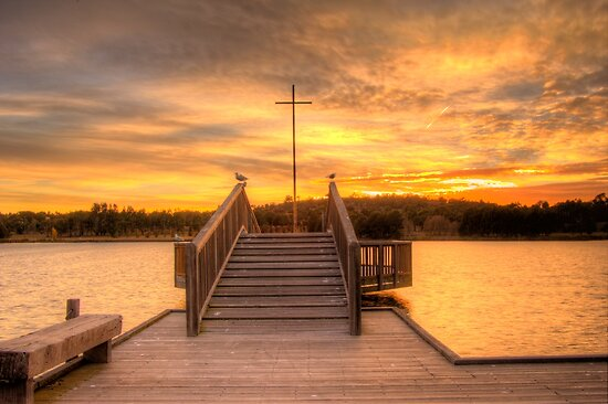 Sunrise over Lake Tuggeranong Canberra Australia  by Kym Bradley