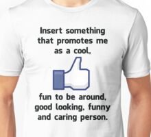 """Insert something"" Unisex T-Shirt"