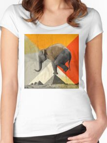 Balance of the Pyramids Women's Fitted Scoop T-Shirt