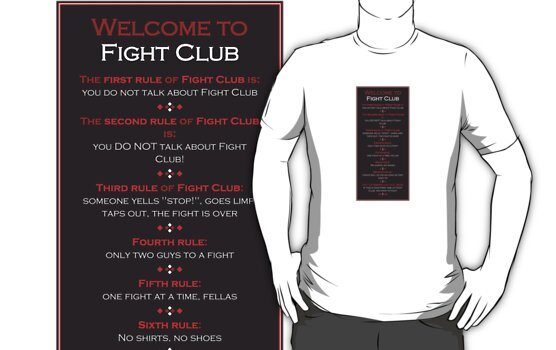Fight Club - Welcome to Fight Club by scatman