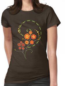 Summer Swirls Womens Fitted T-Shirt