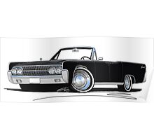 Lincoln Continental Convertible (1963) Black Poster