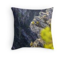 Tulampanga/Alum Cliffs, Mole Creek, Tasmania, Australia Throw Pillow