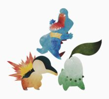 Johto Starters - Pokemon One Piece - Short Sleeve