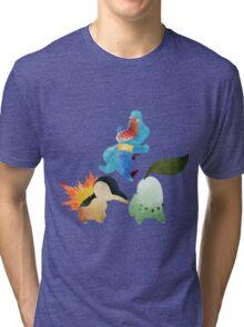 Johto Starters - Pokemon Tri-blend T-Shirt