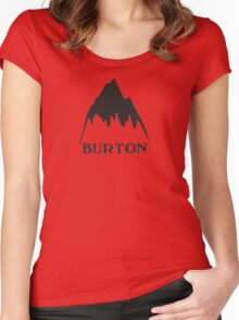 Vintage burton logo Women's Fitted Scoop T-Shirt