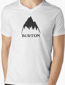 Vintage burton logo Mens V-Neck T-Shirt