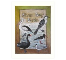River Day Birds  Art Print