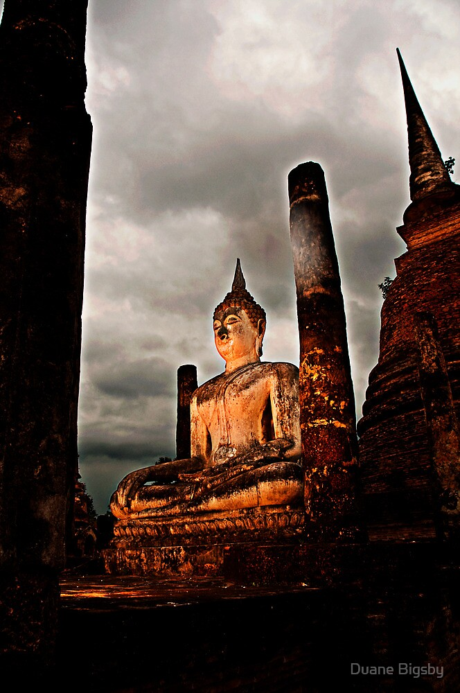 Sunset Buddah in Sukothai by Duane Bigsby
