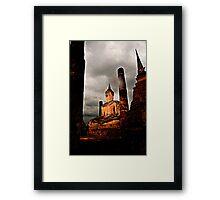 Sunset Buddah in Sukothai Framed Print