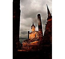 Sunset Buddah in Sukothai Photographic Print