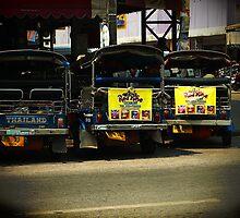 Tuk Tuks, Chiang Rai, Thailand by Duane Bigsby