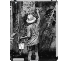 Statue of a painter iPad Case/Skin