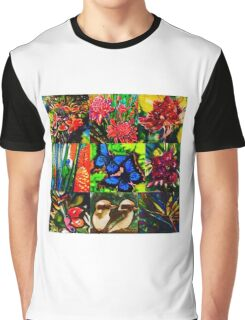 Tropical patchwork Graphic T-Shirt