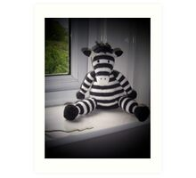 Knitted Zebra Art Print