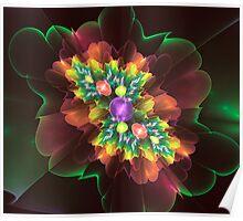 Flower Gems Poster