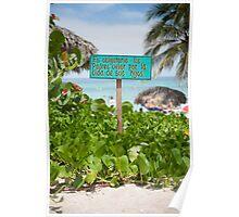 Beach Sign - Cuba Poster