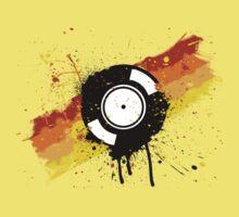 Vinyl Graffiti One Piece - Short Sleeve