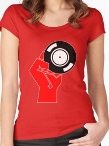 Vinyl Propaganda - Record DJ Women's Fitted Scoop T-Shirt