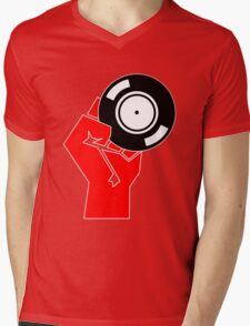 Vinyl Propaganda - Record DJ Mens V-Neck T-Shirt