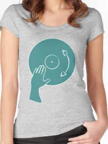 How To Scratch - DJ Women's Fitted Scoop T-Shirt