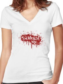 Scratch Me Women's Fitted V-Neck T-Shirt