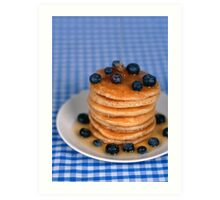 Blueberry Pancakes!  Art Print