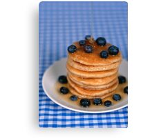 Blueberry Pancakes!  Canvas Print