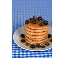Blueberry Pancakes!  Photographic Print