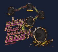 Play That Music Loud One Piece - Short Sleeve