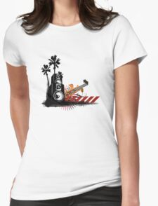 Speaker Tower Womens Fitted T-Shirt