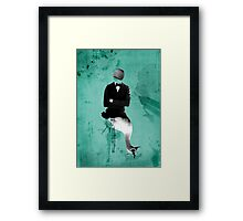 swan+man Framed Print