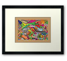 Animal Epic Framed Print