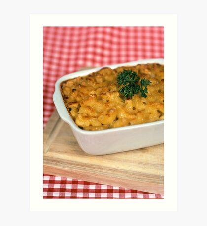 Macaroni and Cheese.  Art Print