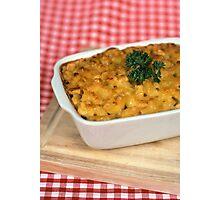 Macaroni and Cheese.  Photographic Print