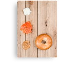 Deconstructed Bagel. Canvas Print