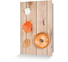 Deconstructed Bagel. Greeting Card