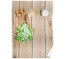 Deconstructed Caesar Salad.  Poster