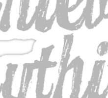 Parks & Recreation - [Grey] No One Achieves Anything Alone - Typography quote Sticker
