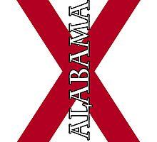 Smartphone Case - State Flag of Alabama  - Vertical Named by Mark Podger