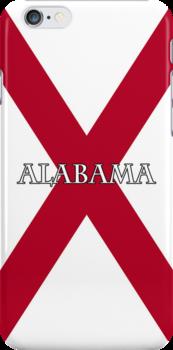 Smartphone Case - State Flag of Alabama  - Horizontal Named by Mark Podger